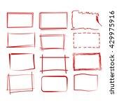 grunge rectangle frame  red... | Shutterstock .eps vector #429975916