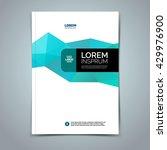 vector leaflet brochure cover... | Shutterstock .eps vector #429976900