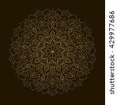 vector golden mandala. circular ... | Shutterstock .eps vector #429977686