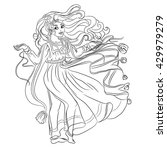 fashion romantic little girl in ... | Shutterstock .eps vector #429979279