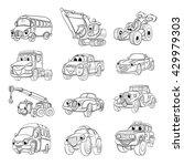 set of fanny cartoon transport. ...   Shutterstock .eps vector #429979303