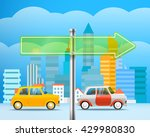 cityscape with a glass board.... | Shutterstock .eps vector #429980830