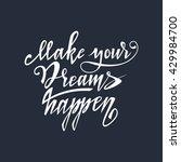 hand lettering typography... | Shutterstock .eps vector #429984700