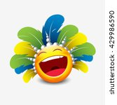 cute laughing emoticon isolated ... | Shutterstock .eps vector #429986590
