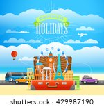 vacation traveling illustration ... | Shutterstock .eps vector #429987190