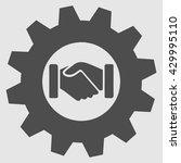 hands shaking vector. handshake ... | Shutterstock .eps vector #429995110