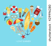 heart summer composition with... | Shutterstock .eps vector #429996280