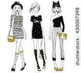 vector beautiful fashionable... | Shutterstock .eps vector #430007398