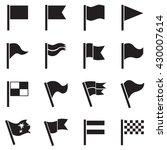 flag icon pennant  flag icon... | Shutterstock .eps vector #430007614