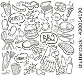 bbq barbecue day doodle icons... | Shutterstock .eps vector #430014190