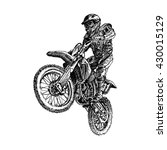 motocross rider on a motorcycle ... | Shutterstock .eps vector #430015129