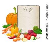 recipe card. kitchen note blank ... | Shutterstock .eps vector #430017100