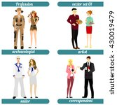 set of different professions.... | Shutterstock .eps vector #430019479