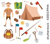 set of camping equipment... | Shutterstock .eps vector #430019944