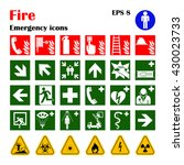 Vector Fire Emergency Icons....