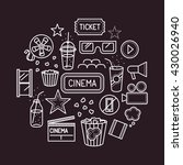 movie theater line icons.... | Shutterstock .eps vector #430026940
