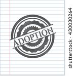 adoption emblem with pencil... | Shutterstock .eps vector #430030264