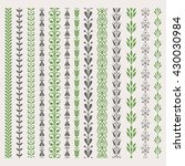 decorative seamless ornamental... | Shutterstock .eps vector #430030984