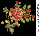 rose color pencil  red roses... | Shutterstock . vector #430034734