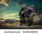 man seat on the motorcycle...   Shutterstock . vector #430034854