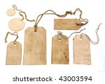 vintage tags isolated on white | Shutterstock . vector #43003594