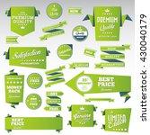 vintage labels set   origami... | Shutterstock .eps vector #430040179