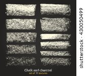 vector brush strokes. chalk and ... | Shutterstock .eps vector #430050499