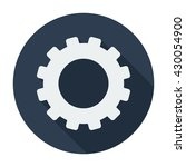 settings icon flat cog sign... | Shutterstock .eps vector #430054900