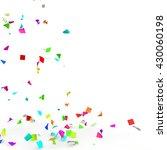 bright and colorful confetti... | Shutterstock . vector #430060198