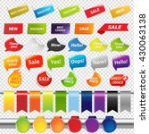 set of color sale stickers and... | Shutterstock . vector #430063138