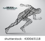 silhouette of a running man... | Shutterstock .eps vector #430065118