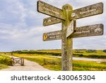 A Signpost On The South Downs...
