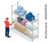 warehouse manager or warehouse... | Shutterstock .eps vector #430065943