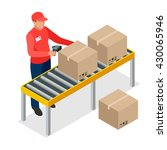 warehouse manager or warehouse... | Shutterstock .eps vector #430065946