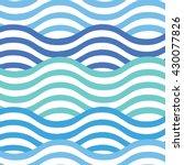vector seamless wavy pattern....   Shutterstock .eps vector #430077826