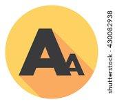 font type letter symbol flat...