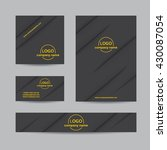 abstract corporate set of... | Shutterstock .eps vector #430087054