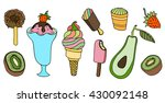 collection of vector ice cream... | Shutterstock .eps vector #430092148
