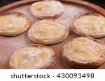 white chocolate sfiha over a... | Shutterstock . vector #430093498