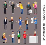 vector detailed characters... | Shutterstock .eps vector #430095418
