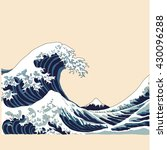 wave vector illustration... | Shutterstock .eps vector #430096288