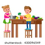 cute vector character child and ... | Shutterstock .eps vector #430096549