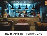 half lighted hall in a loft... | Shutterstock . vector #430097278