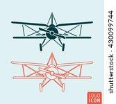 old airplane icon. retro...