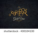 vintage logotype for winery ... | Shutterstock .eps vector #430104130
