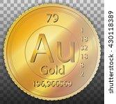 aurum gold coin  element of... | Shutterstock .eps vector #430118389