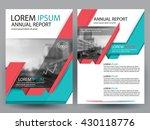 abstract vector modern flyers... | Shutterstock .eps vector #430118776