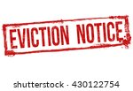 eviction notice grunge rubber...   Shutterstock .eps vector #430122754