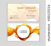 abstract business card design... | Shutterstock .eps vector #430125214