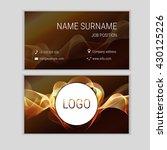 abstract business card design... | Shutterstock .eps vector #430125226